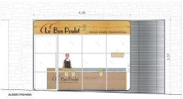 000 Le bon poulet tipo Madrid Proyecto Obra Decoración